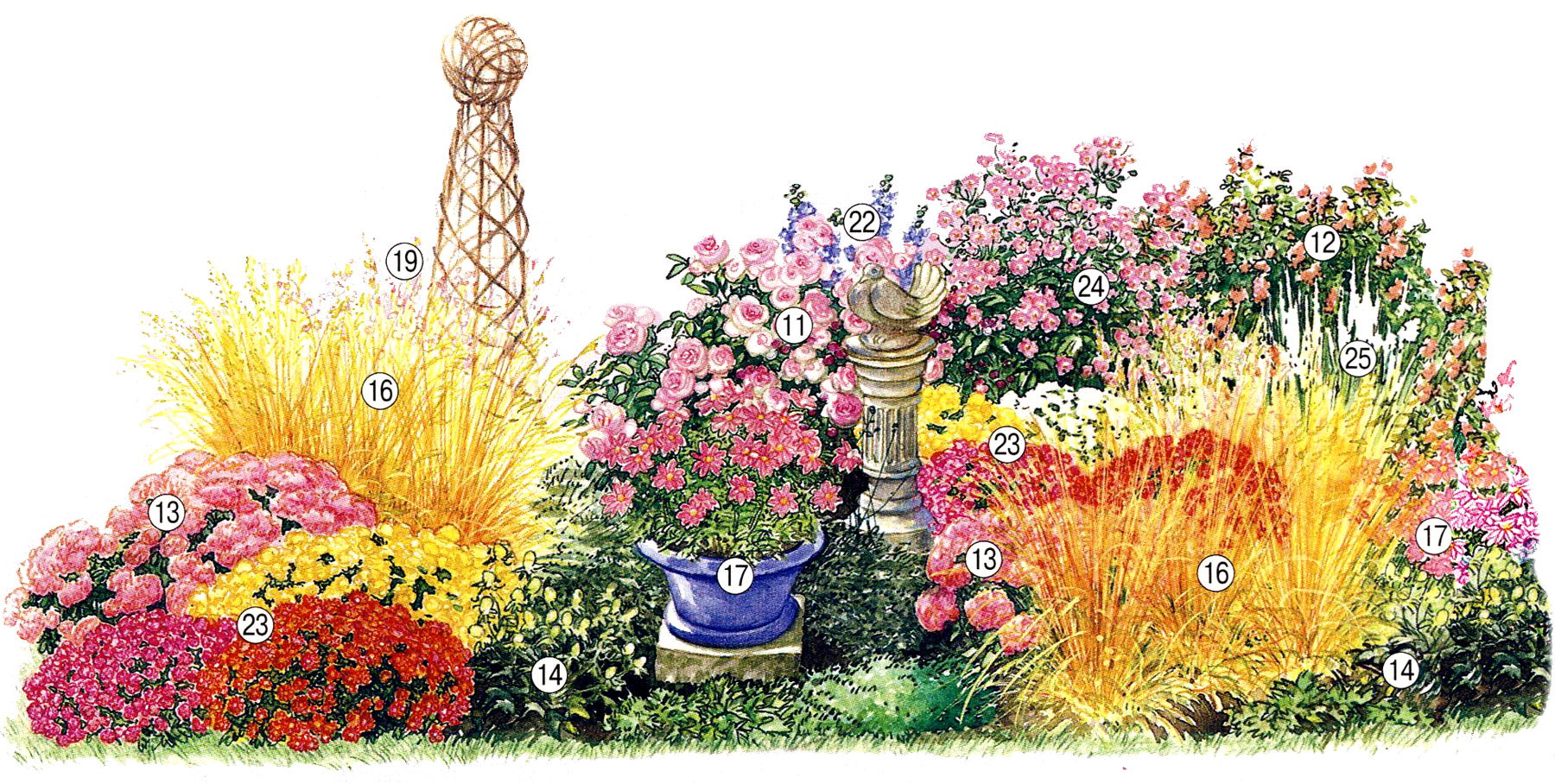 Клумба непрерывного цветения.