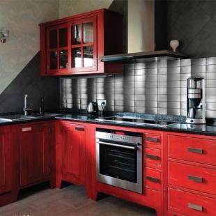 Отделка мозаикой кухни