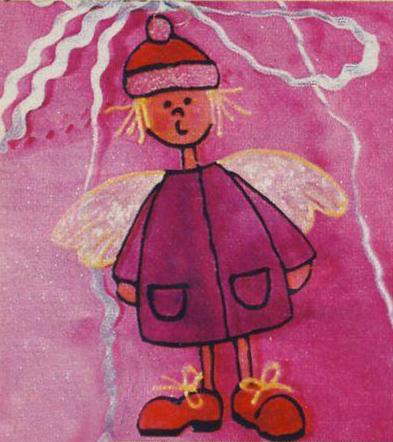 Новогодний рисунок - ангел