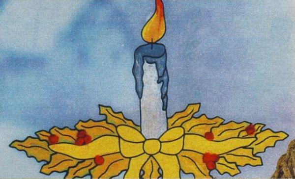 Новогодний рисунок - свеча