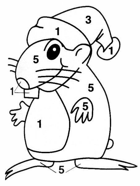 Новогодний эскиз - мышка