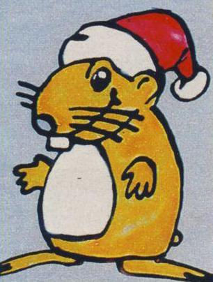 Новогодний рисунок - мышка