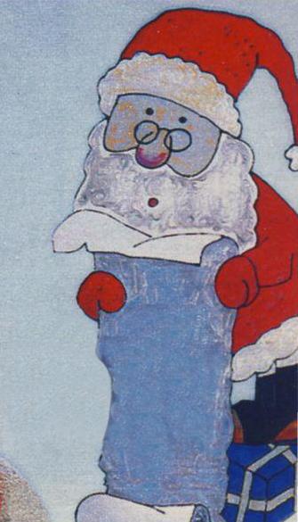 Новогодний рисунок - Дед мороз