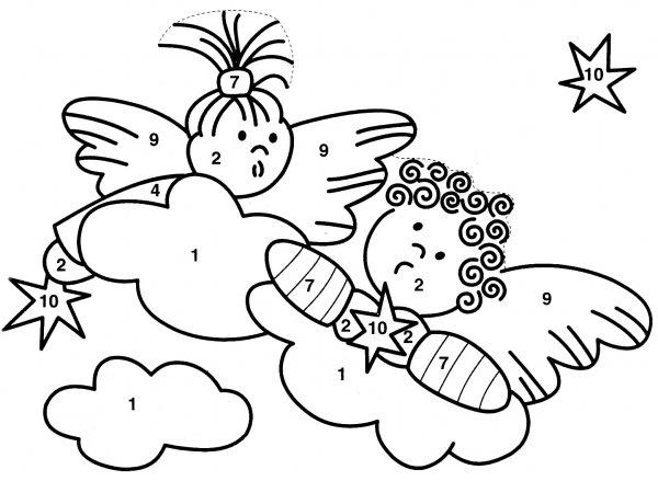 Новогодний эскиз - ангелы